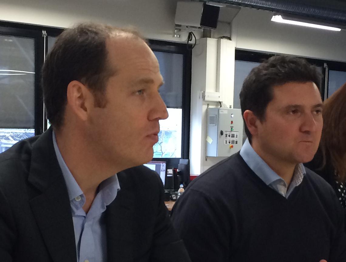 Benjamin Revcolevschi, DG de Fujistu France et Christophe Raillon, directeur du projet TechShop