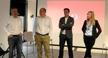 OpenIO : Georges Lotigier (président, cofondateur), Laurent Denel (CEO, cofondateur), Adrien Gendre (responsable produit USA), Marie Ponseel (COO, cofondatrice)