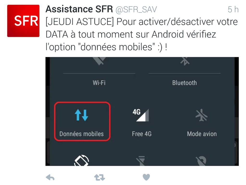 Tweet SFR Free 4G