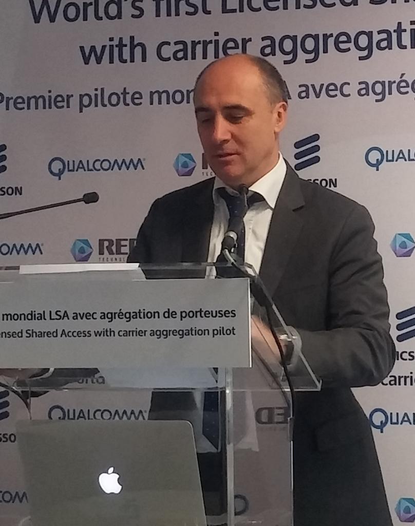 Pour Franck Bouétard, président d'Ericsson France, le partage de fréquence ne peut qu'intéresser les opérateurs.