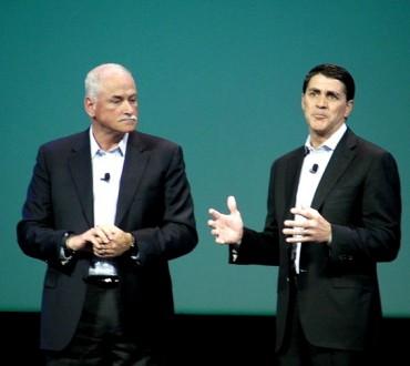 Robert Leblanc (IBM) et Carl Eschenbach (VMware)