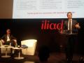 Maxime Lombardini, directeur général d'Iliad, et Thomas Reynaud, directeur financier