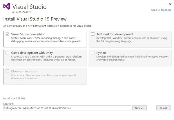 Visual Studio 15