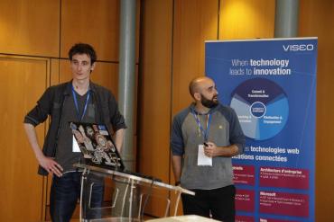 Fabien Dibot et William Bordes, développeurs MVP Microsoft, présente leur retour d'expérience Azure Stack. (crédit photo © 2016 Slain-V).