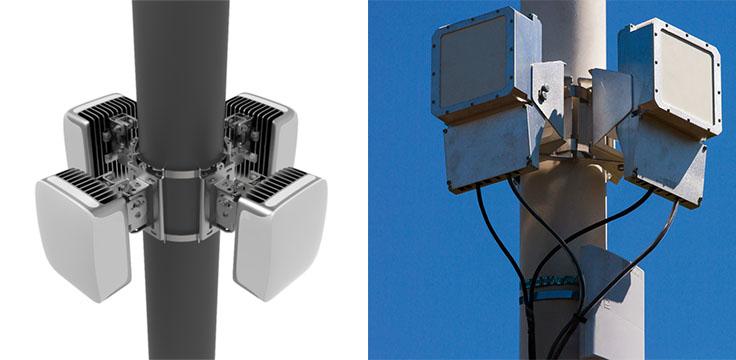 Le prototype Terragraph, un noeud d'antennes fréquencées à 60 GHz.