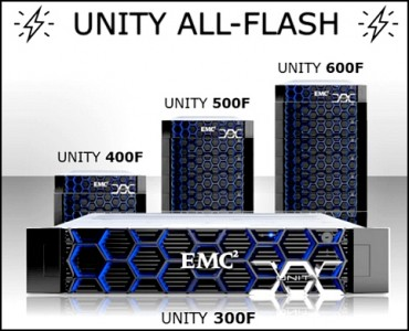 Modèles All Flash d'EMC Unity