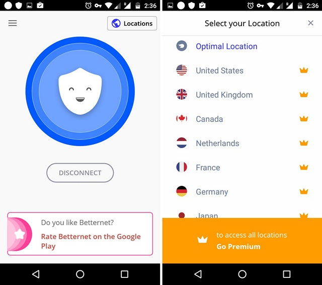 Betternet-VPN-Android-app
