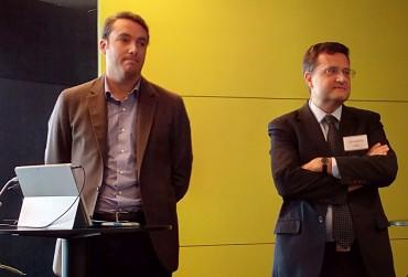 De d à g : Frédéric Granotier, PDG de Lucibel et Edouard Lebrun, directeur de l'innovation