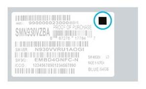Un carré noir sur l'étiquette de l'emballe du smartphone confirme l'innocuité du Note 7.