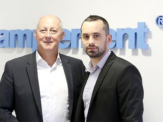 Patrick Bergougnou (Cirpack) et Adrien Sommier (Amplement)
