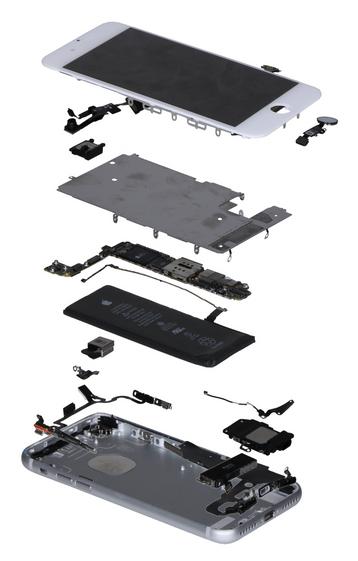 L'iPhone 7 en vue démontée