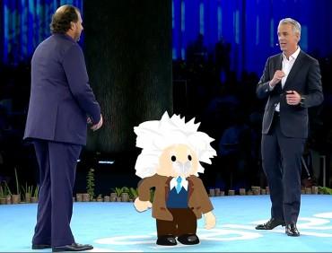 Marc Benioff et Parker Harris: les cofondateurs s'amusent avec Einstein