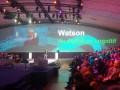 Jean-Philippe Desbiolles, vice-président Cognitive Solution IBM Watson Group, et Frantz Rublé, président du Groupe Crédit Mutuel CIC Euro-Information, sur la scène du IBM Business Connected 2016 Paris