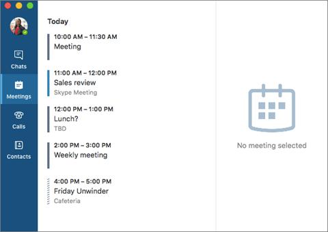 Skype for Business reprend l'interface de Skype