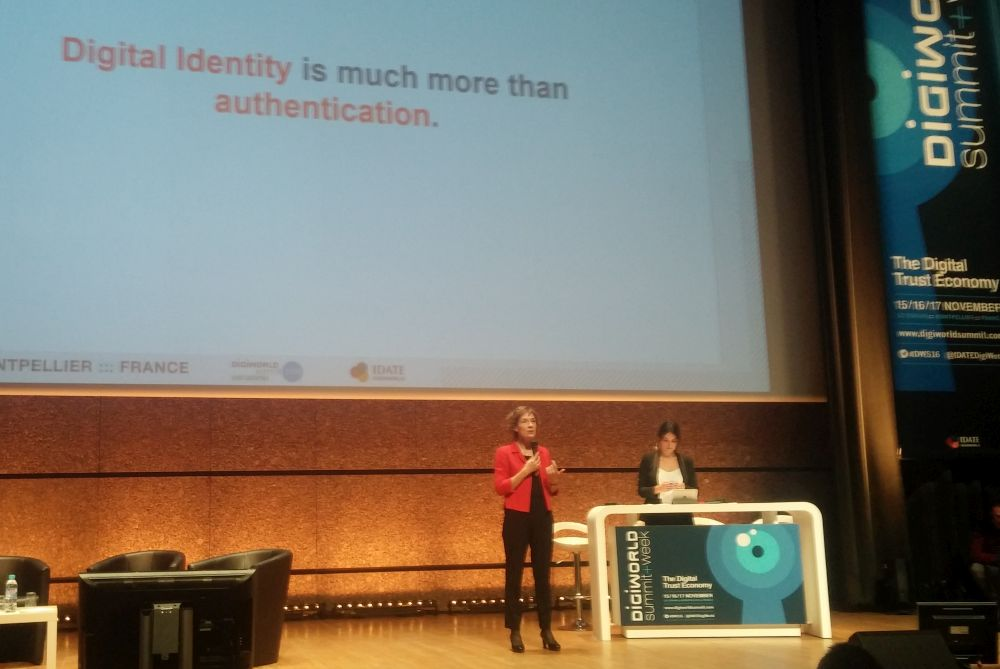 Anne-Bouverot, CEO de Safran Identity et Security, au Digiworld Summit 2016.