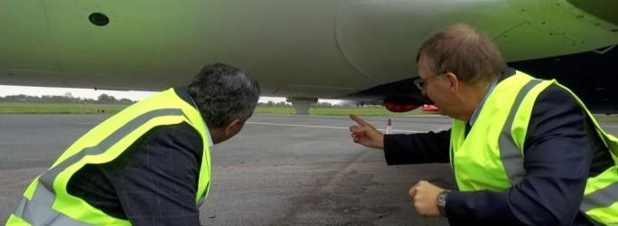 Test d'équipement satellite pour l'European Aviation Network (EAN)