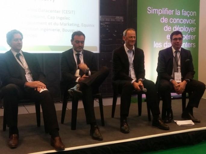 De gauche à droite : Brice Fourney (Bouygues Energies & Services), Fabien Gautier (Equinix), Olivier Labbé (Cap Ingelec), Nicolas Zerbib (Corning)