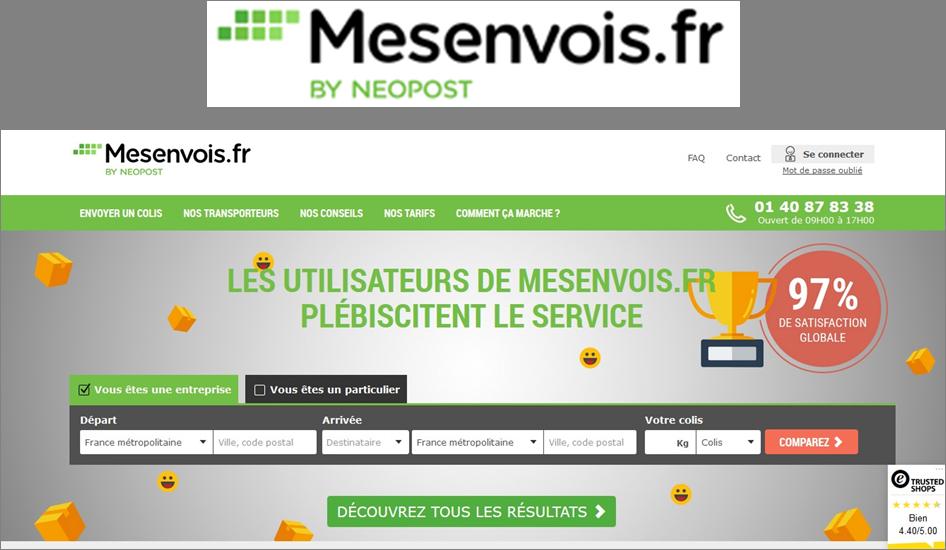 10 Crédit-colis de 10€ HT sur mesenvois.fr