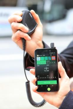 Le Push-to-Talk, une des applications Android IP 4G développé par Air-Lynx