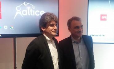 Philippe Le May, directeur exécutif réseau, et Michel Paulin, directeur général de SFR