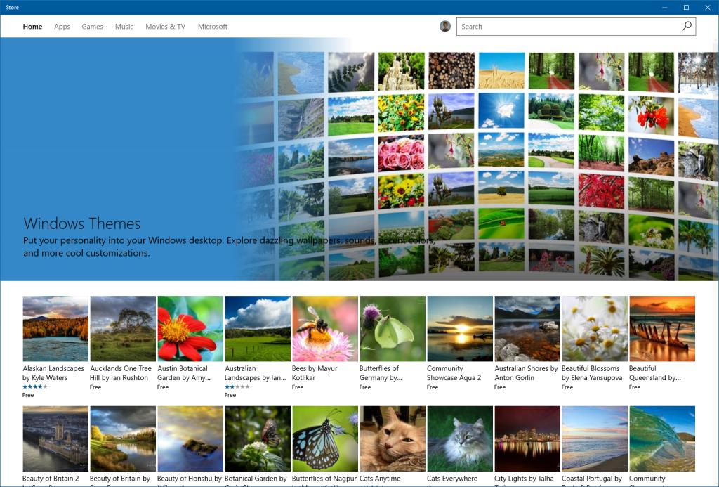 Windows 10 store-themes
