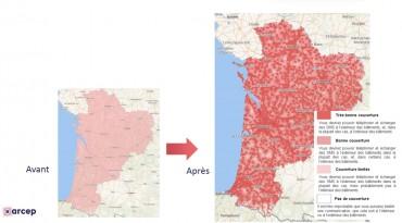 La nouvelle cartographie de l'Arcep apporte un meilleur niveau de détail de la couverture mobile.