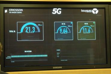 L'antenne 5G d'Ericsson dépasse allègrement les 20 Gbit/s en émission, avec des pics constatés au-delà de 24 Gbit/s.