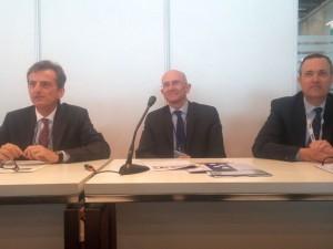 Pierre Andrade (Suez), Jean Lemaistre (GRDF), Eric Rieul (Sagemcom)