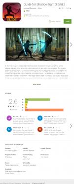 Un exemple de FalseGuide trouvé sur Google Play à partir du guide du jeu Shadow Fight.