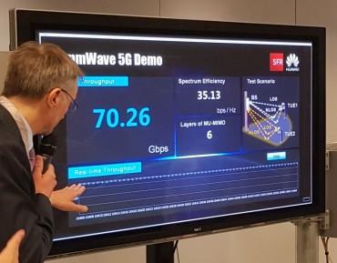 Sur un équipement Huawei, SFR dépasse les 35 Gbit/s par terminal en 5G