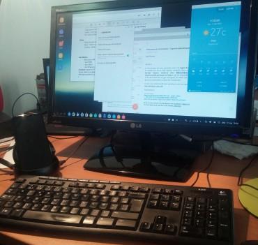 Le Dex s'utilise en mode mobile ou de bureau pour afficher les applications en pleine fenêtre