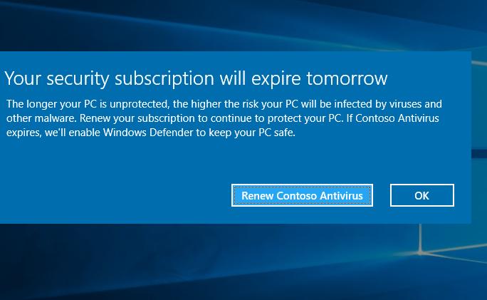 Microsoft a reconnu désactiver les antivirus concurrents sur Windows 10
