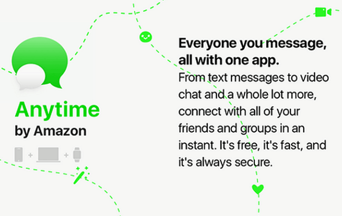 Une messagerie Anytime pour concurrencer WhatsApp, Messenger — Amazon