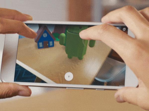 google glisse la r alit augment e sur les smartphones android. Black Bedroom Furniture Sets. Home Design Ideas