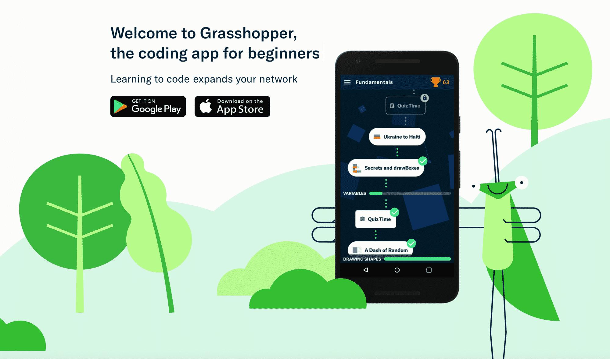 grasshopper une app sign e google pour apprendre coder en javascript silicon. Black Bedroom Furniture Sets. Home Design Ideas