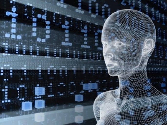 visage humanoïde virtuel