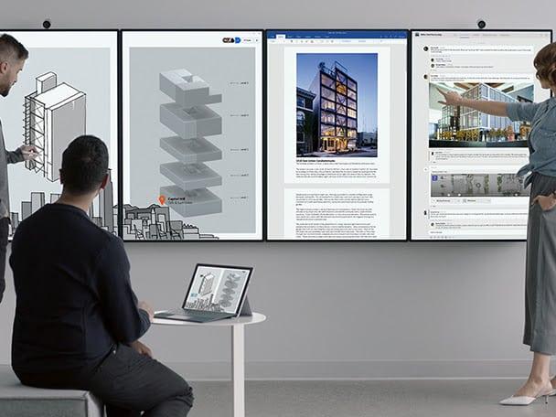 Espace de travail : Microsoft développe sa vision avec Surface Hub 2