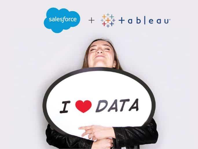 Salesforce s'empare de Tableau pour 15,7 milliards
