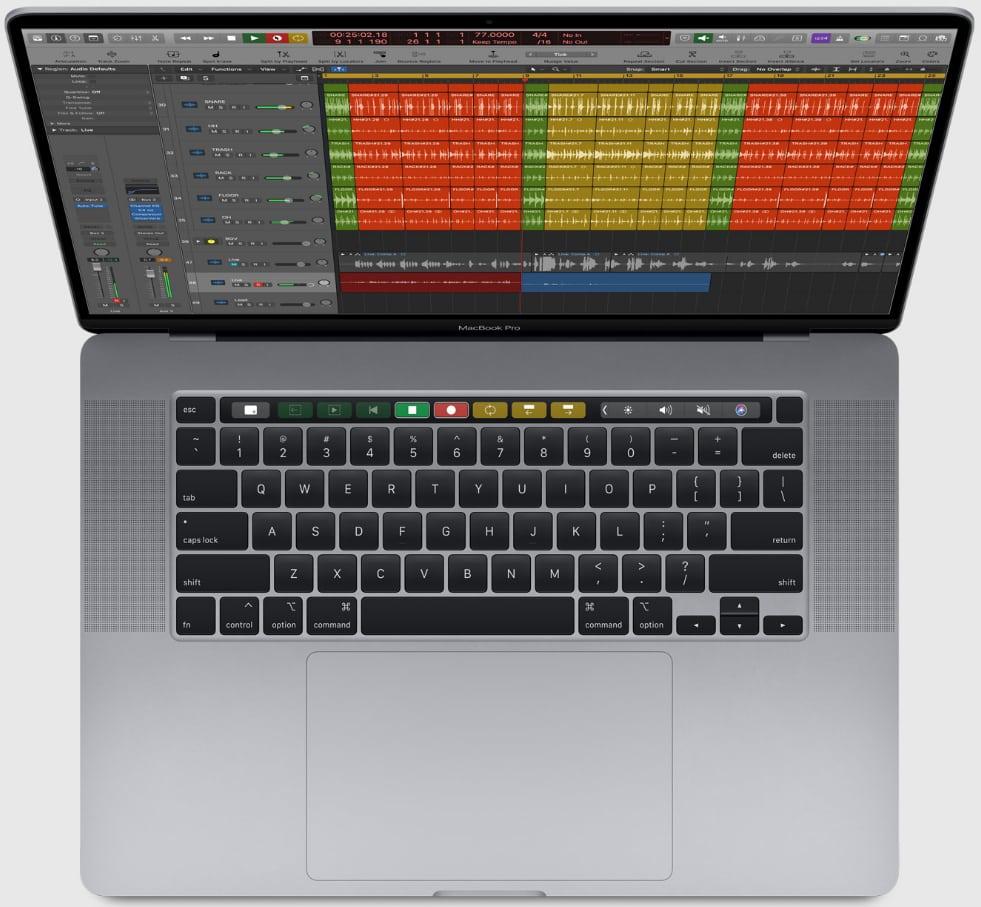 MacBook Pro 16 pouces clavier