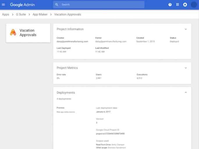 google-app-maker-fermeture