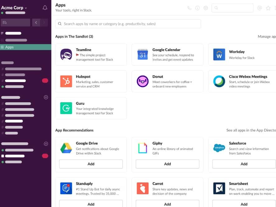 App Home : Slack donne une page d'accueil dynamique aux applications