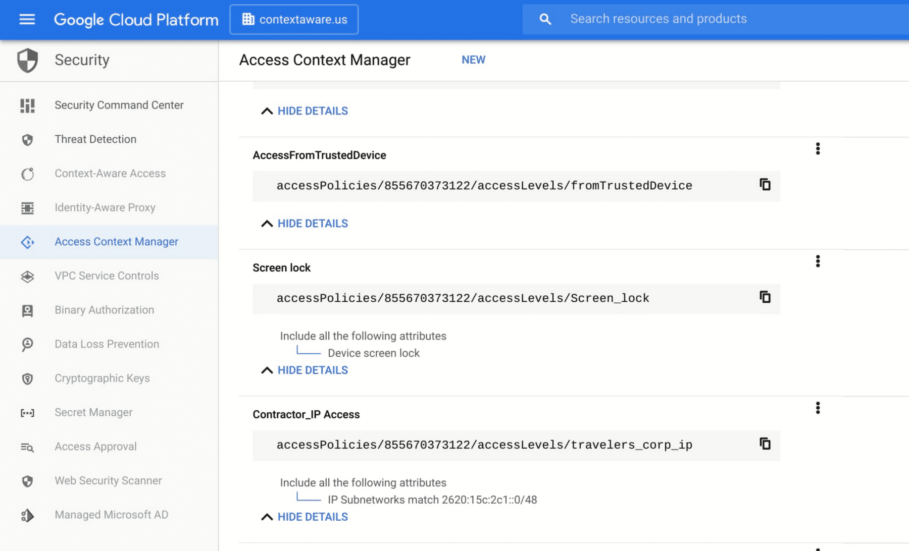 Access Context Manager