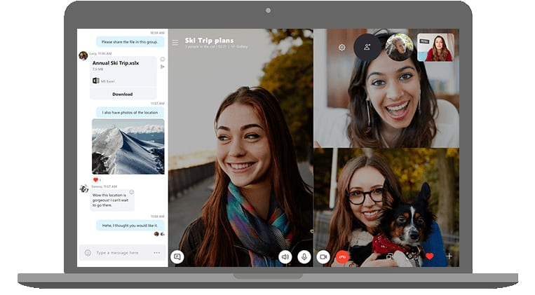 Skype appel en groupe