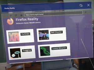 Firefox Reality HoloLens