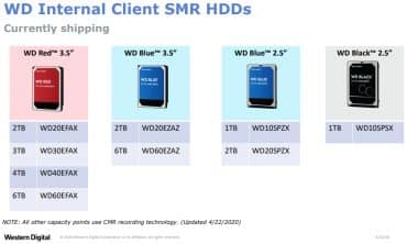 WD disques SMR