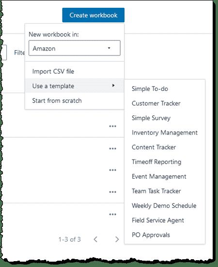 AWS Honeycode templates