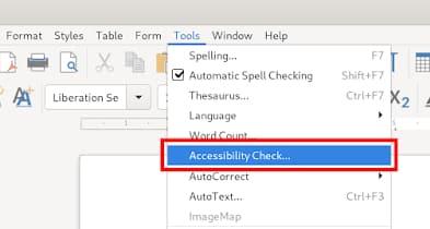vérification d'accessibilité