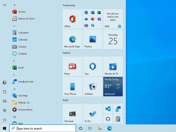 Windows 10 : Microsoft ne transforme pas que le menu Démarrer