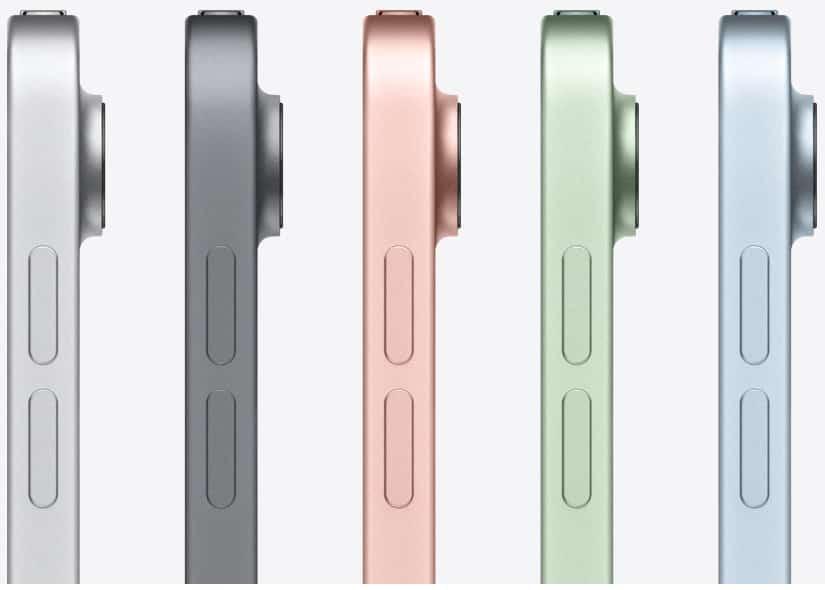 iPad Air 2020 coloris