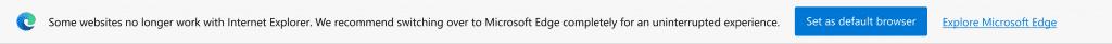 Edge bannière incompatibilité